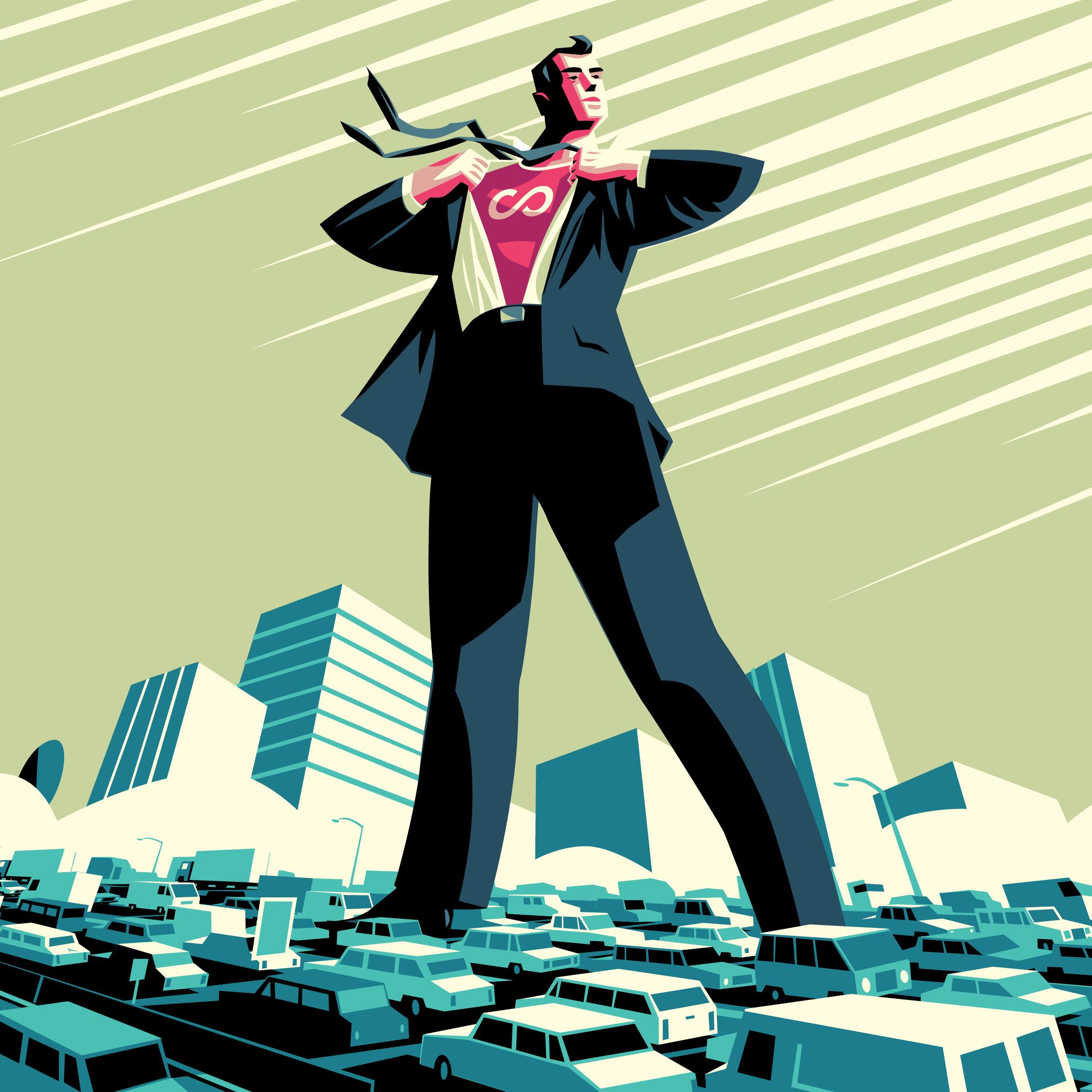 Web Tile - Hero guy -