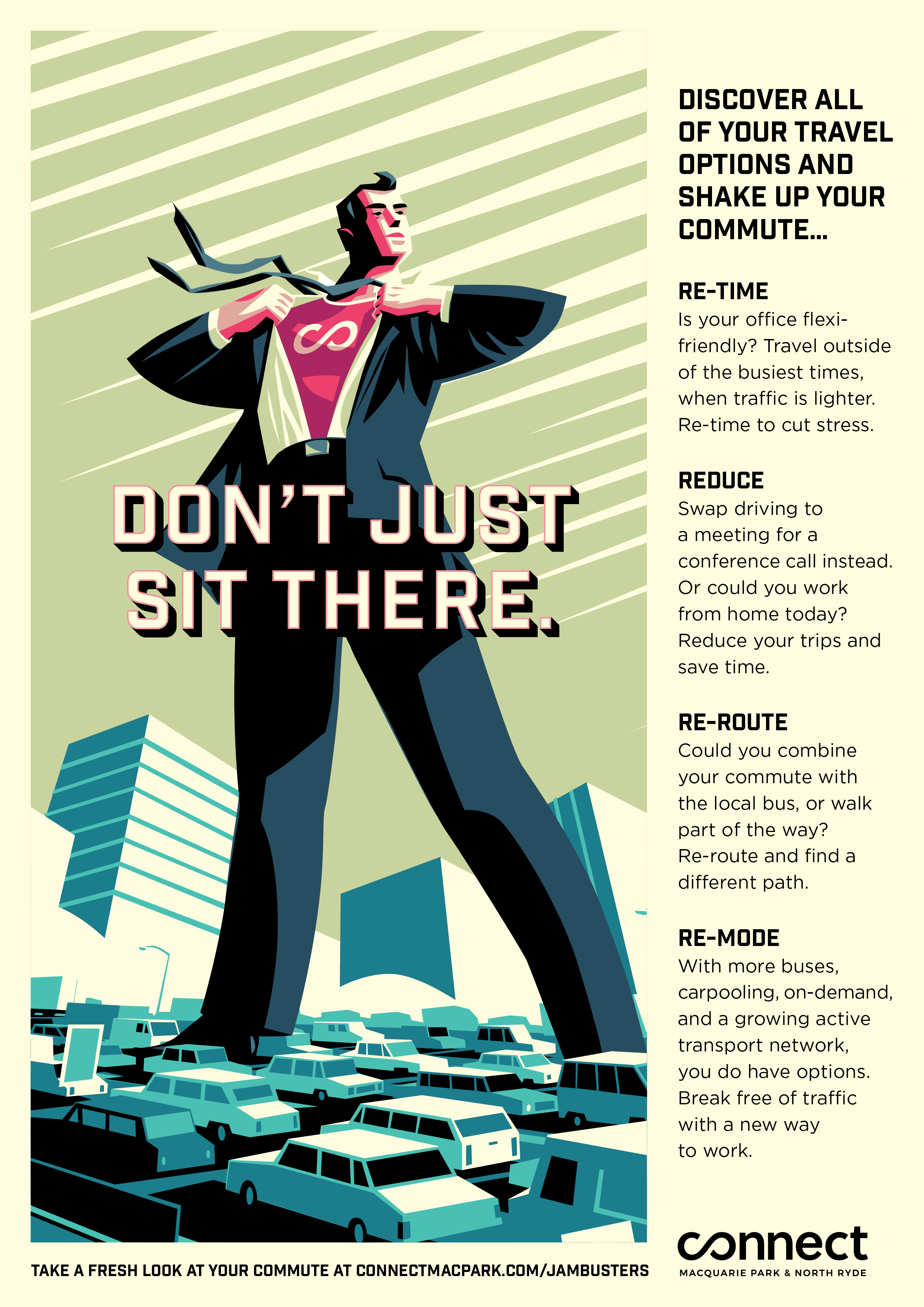 A4 Poster - Don't Just Sit There. -
