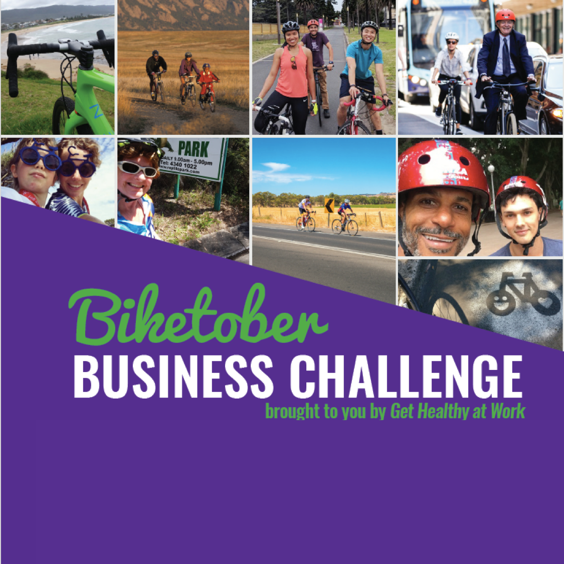BIKETOBER BUSINESS CHALLENGE   Log your bike ride.  Encourage your colleagues.  Go head-to-head with other workplaces -  and win prizes!    All month.