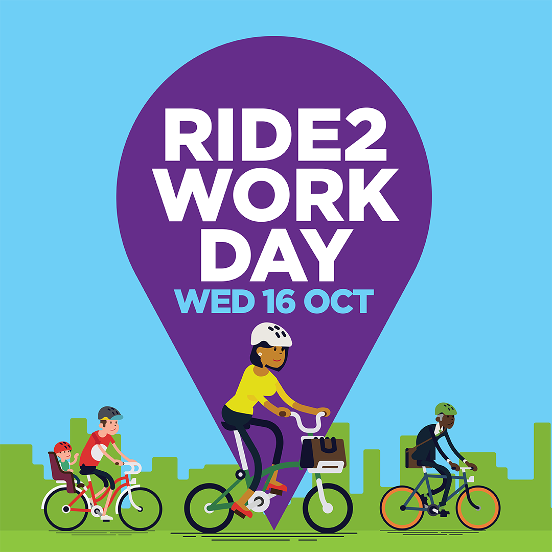 RIDE2WORK DAY   Get rolling for national ride2work day and celebrate cycling with food, prizes and more at three events.   BREAKFAST, 16 October   Optus, 7:30am - 9:30am. Giffnock Lane [ Map ]  Triniti, 8am - 10am. North Ryde [ Map ]   LUNCH, 16 October   Thomas Holt Drive, 12 noon - 2pm. [ Map ]