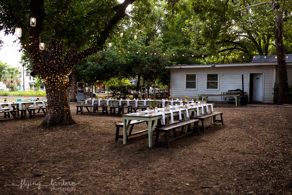Table set up at Eden East in Austin, TX for Wander/Gather dinner party. Photo by Erin Reas of Flying Lantern Photography