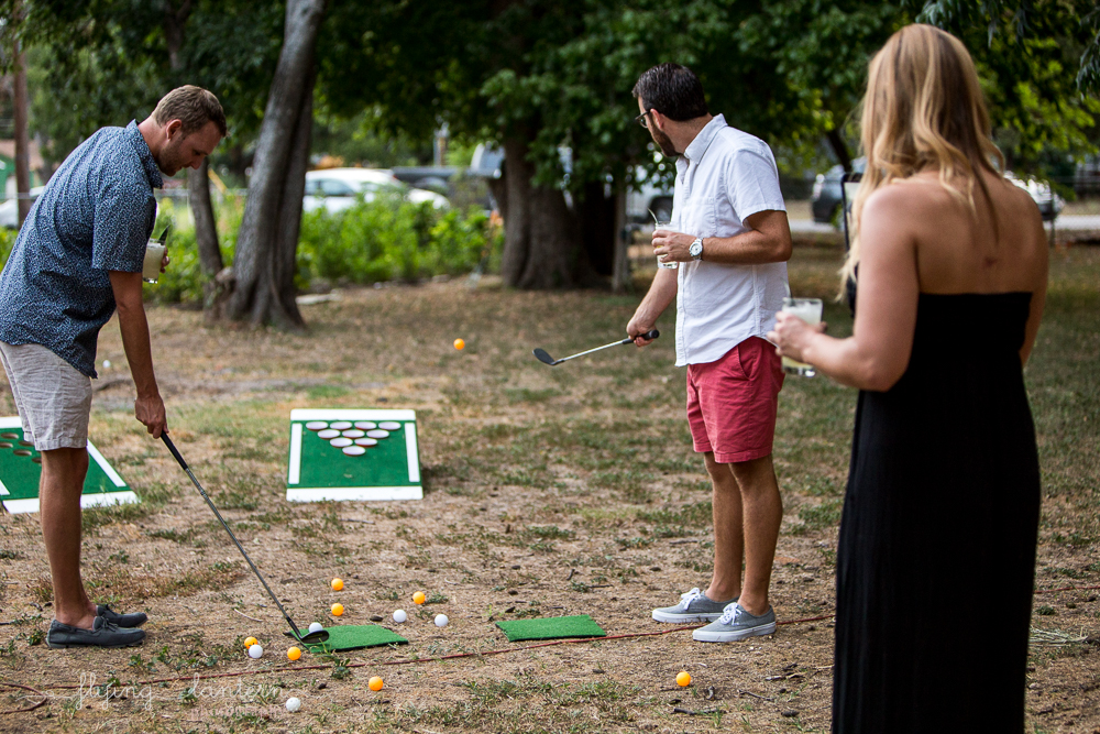 guests playing golf at wander/gather event at Eden East. Event photography by Erin Reas of Flying Lantern Photography