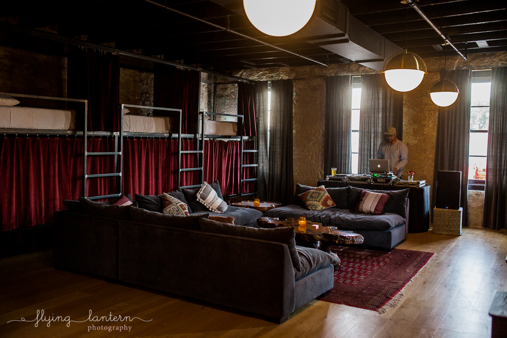 Top floor of Native Hostel in Austin, TX. Photo by Erin Reas of Flying Lantern Photography.