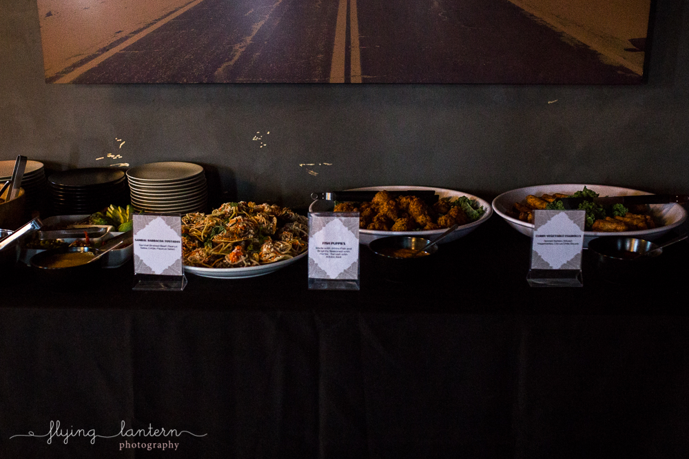 Food served at Wander/Gather event at Native Hostel. Photo by Erin Reas of Flying Lantern Photography