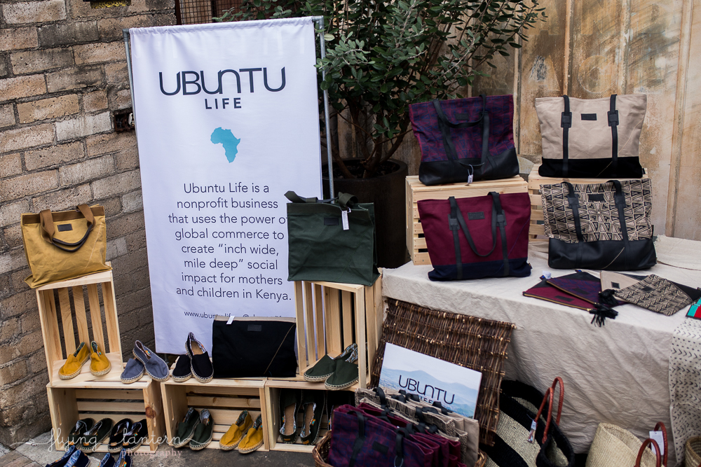 Ubuntu Life Gala market table at the Pershing. Event photography by Erin Reas of Flying Lantern Photography
