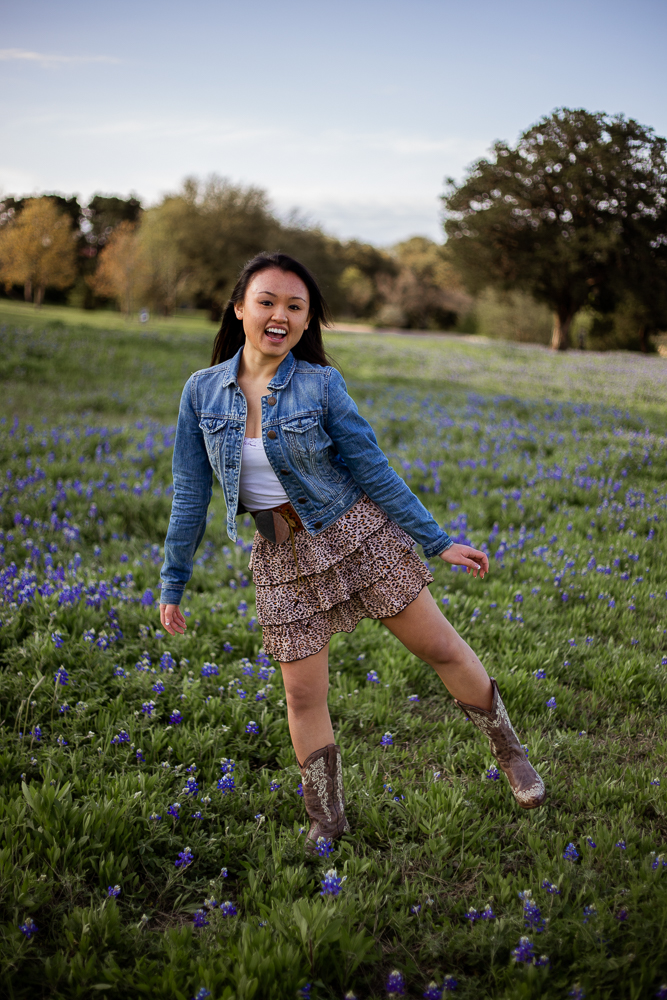 Asian college graduate lifestyle portrait photography. Photo by Erin Reas in Austin, TX