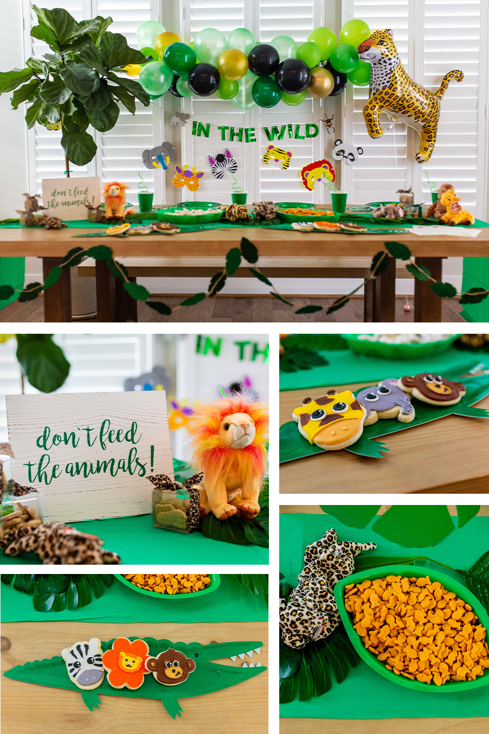 Children's jungle themed party lifestyle brand photography. Photo by Erin Reas based in Austin, TX