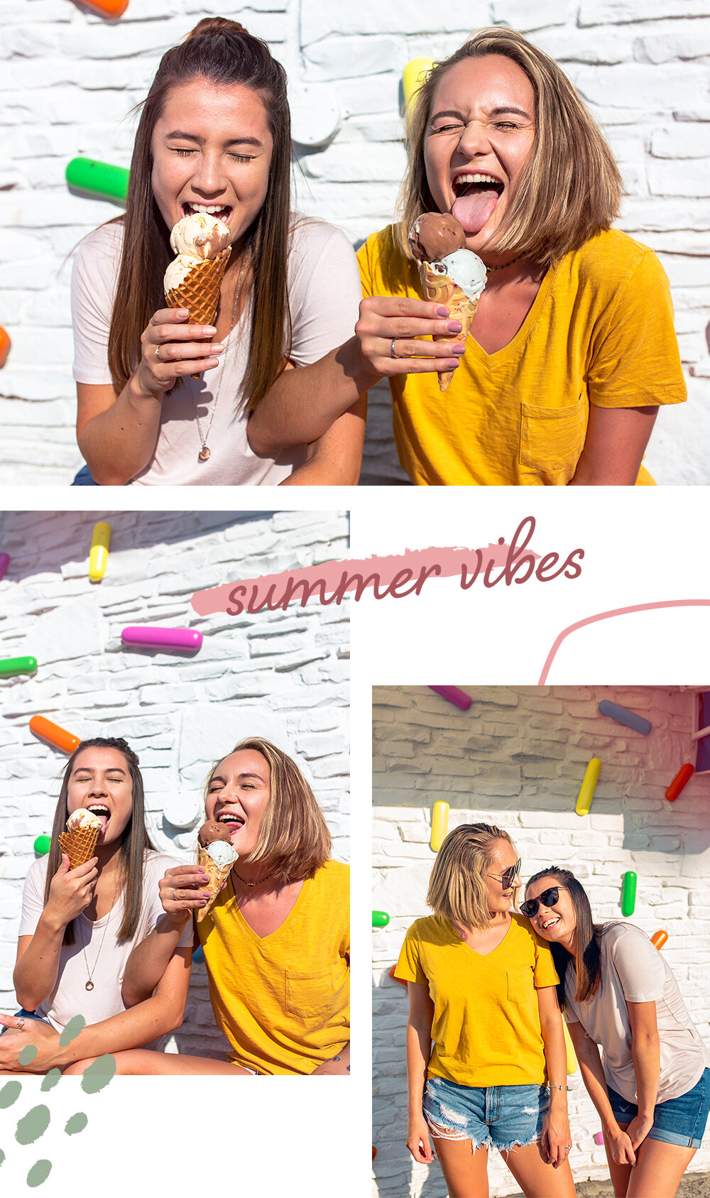 Best Friends And Ice Cream Passion Photoshoot Erin Reas Creates All we need is somebody to lean on 🎶 link in bio to join the. best friends and ice cream passion