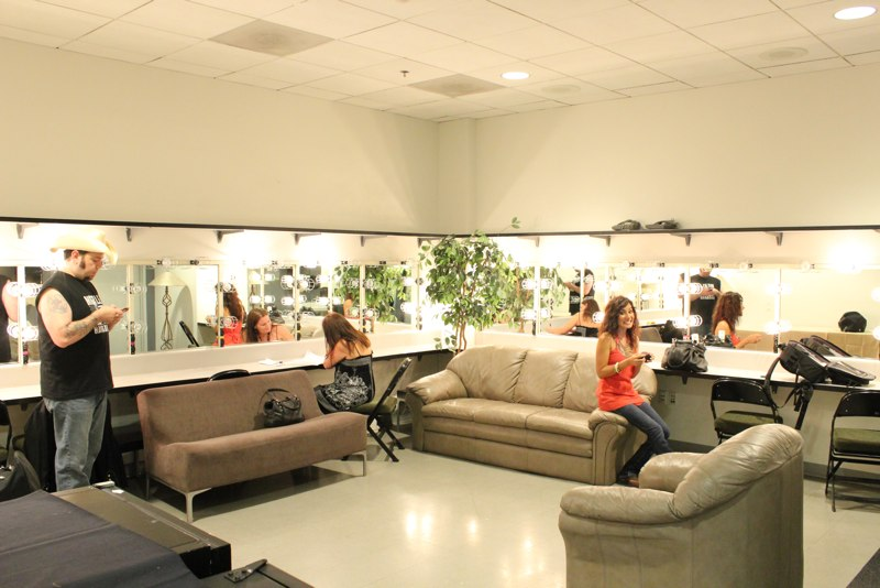 Backstage dressing room at Comerica Theater
