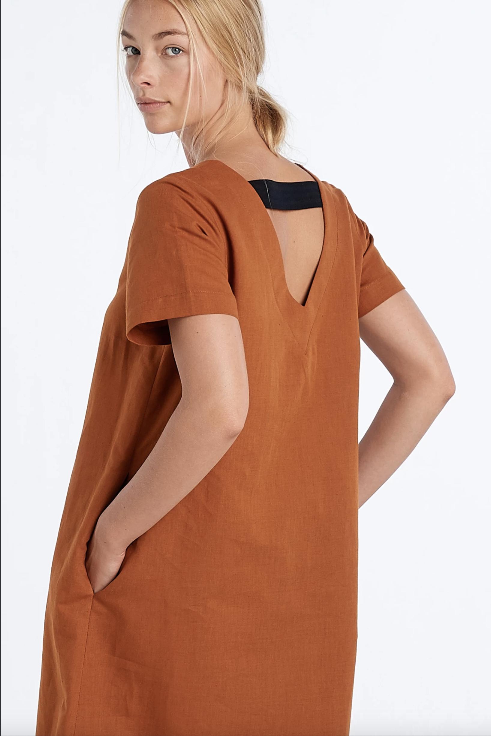 Linen Surface Dress (Rust) - $289.9