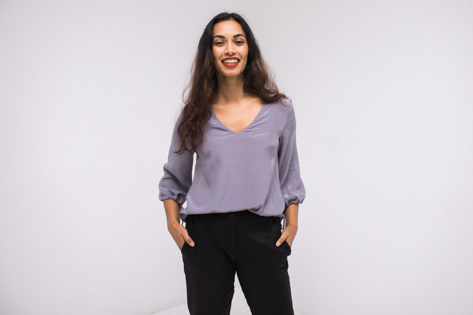 Meg Top (Colour is Ruby Red, not the pictured Lilac) - $195
