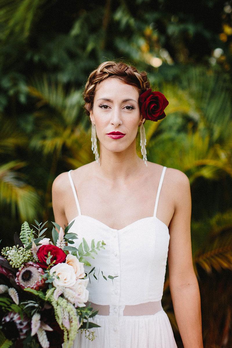 Photo credit:  Taryn Baxter Photography   Designer:  Nicoella Events   Florals: Flor Mimo Sayulita  Earrings:  Evoke the Spirit   Location:  Villa Valentin
