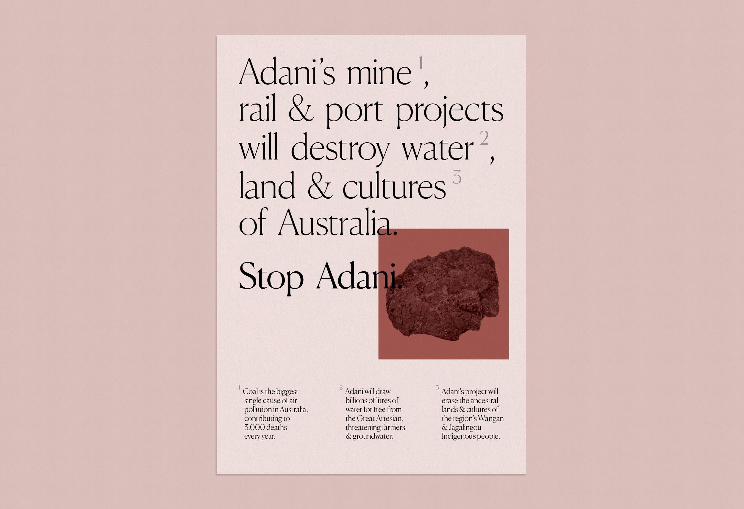 Stop Adani_Poster_No