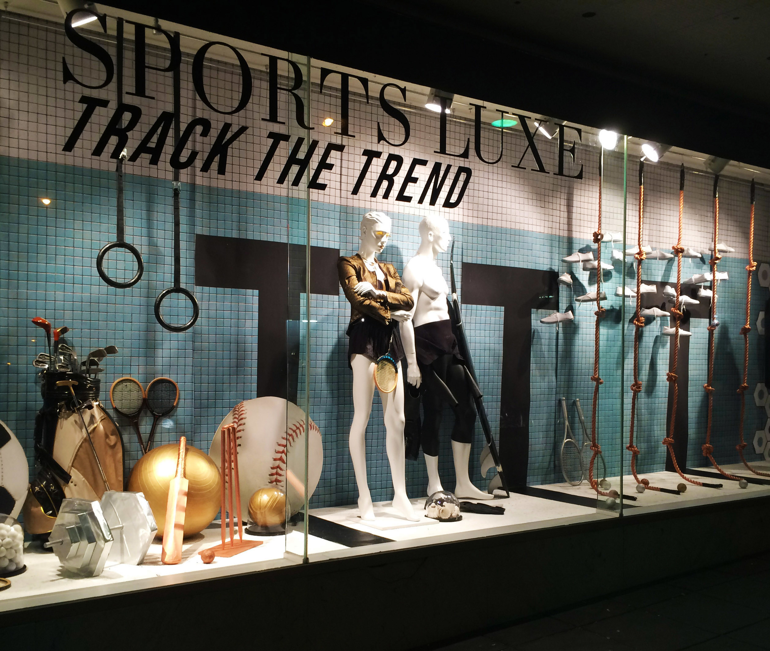 SPORTS LUXE WINDOW AT RMIT  Prop Making and window Installation