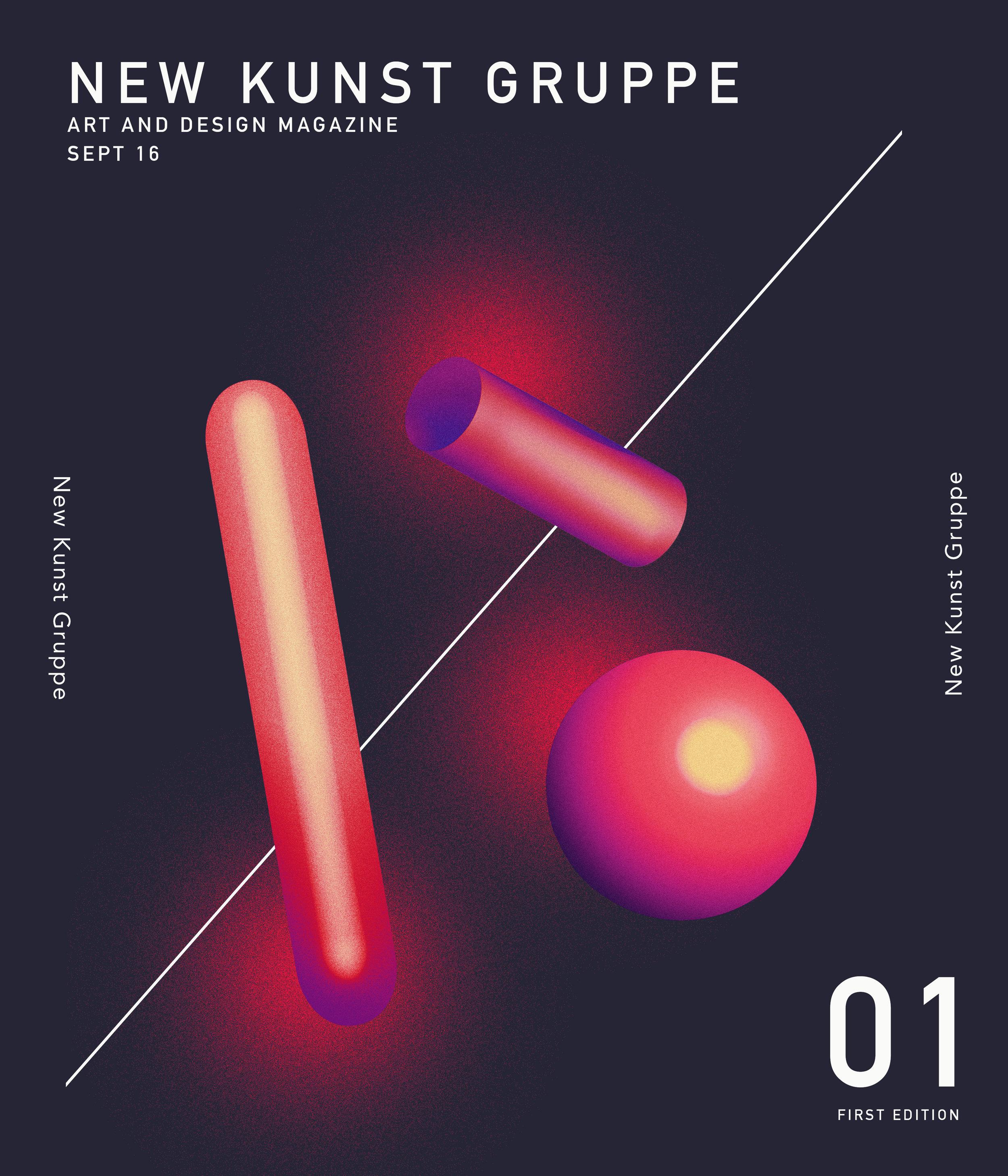 Cover Design for New Kunst Gruppe Magazine