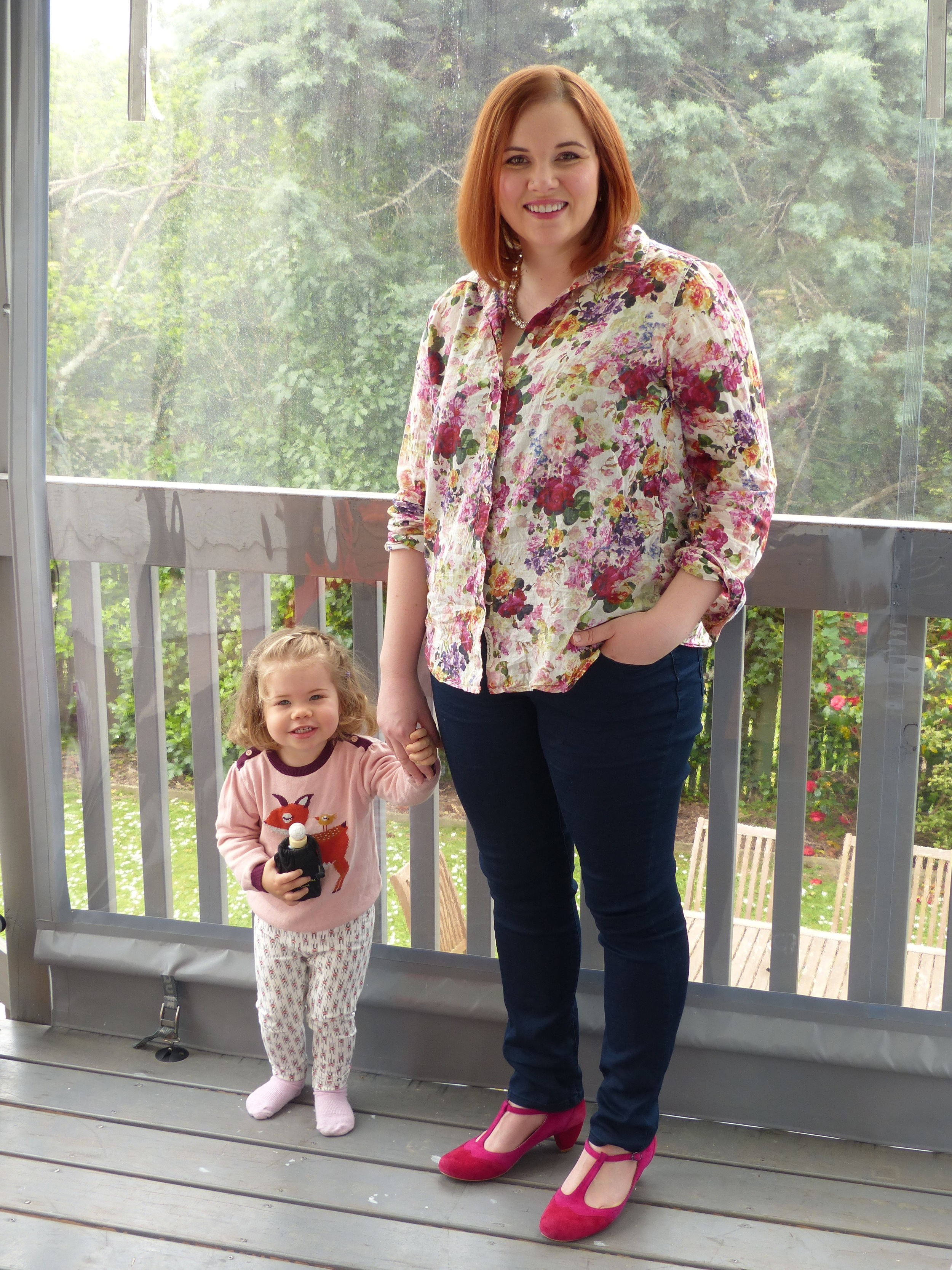 'You can't have a photo without me Mummy!' Shirt by H&M, jeans by Amco for The Warehouse, shoes by Minx.