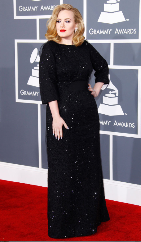Wearing Giorgio Armani at the 54th Grammy Awards in 2012.