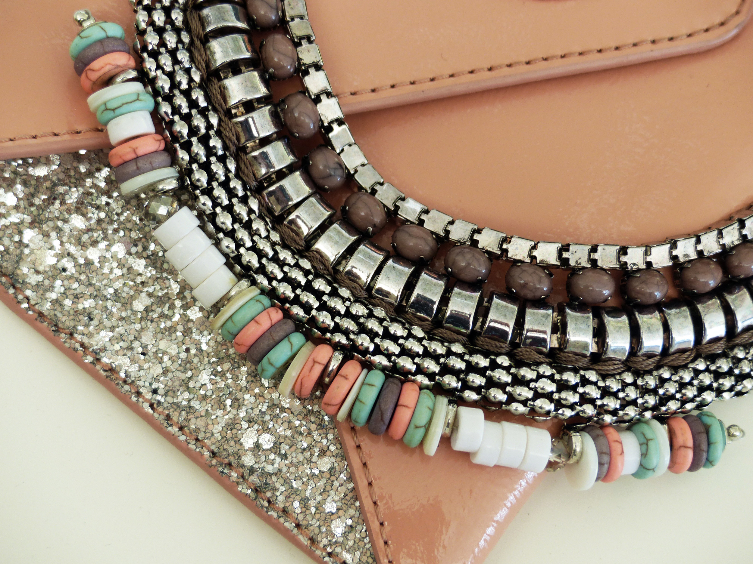 Mimco clutch and Jeanswest necklace