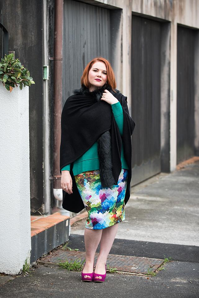 K&K Fir Wrap and Stella Royal Skirt