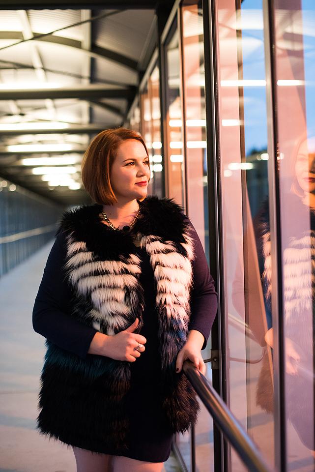 Plus Size/Inbetweenie Winter Fur Gilet