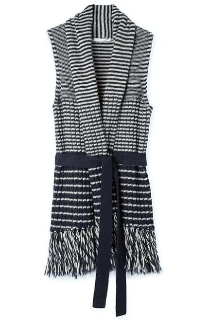 Trenery ' Ribbed Striped Knit Vest ' on sale, $64.90, sizes XS - XL