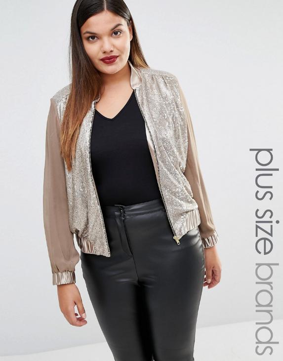 Elvi Sequinned Jacket Sizes 18-26