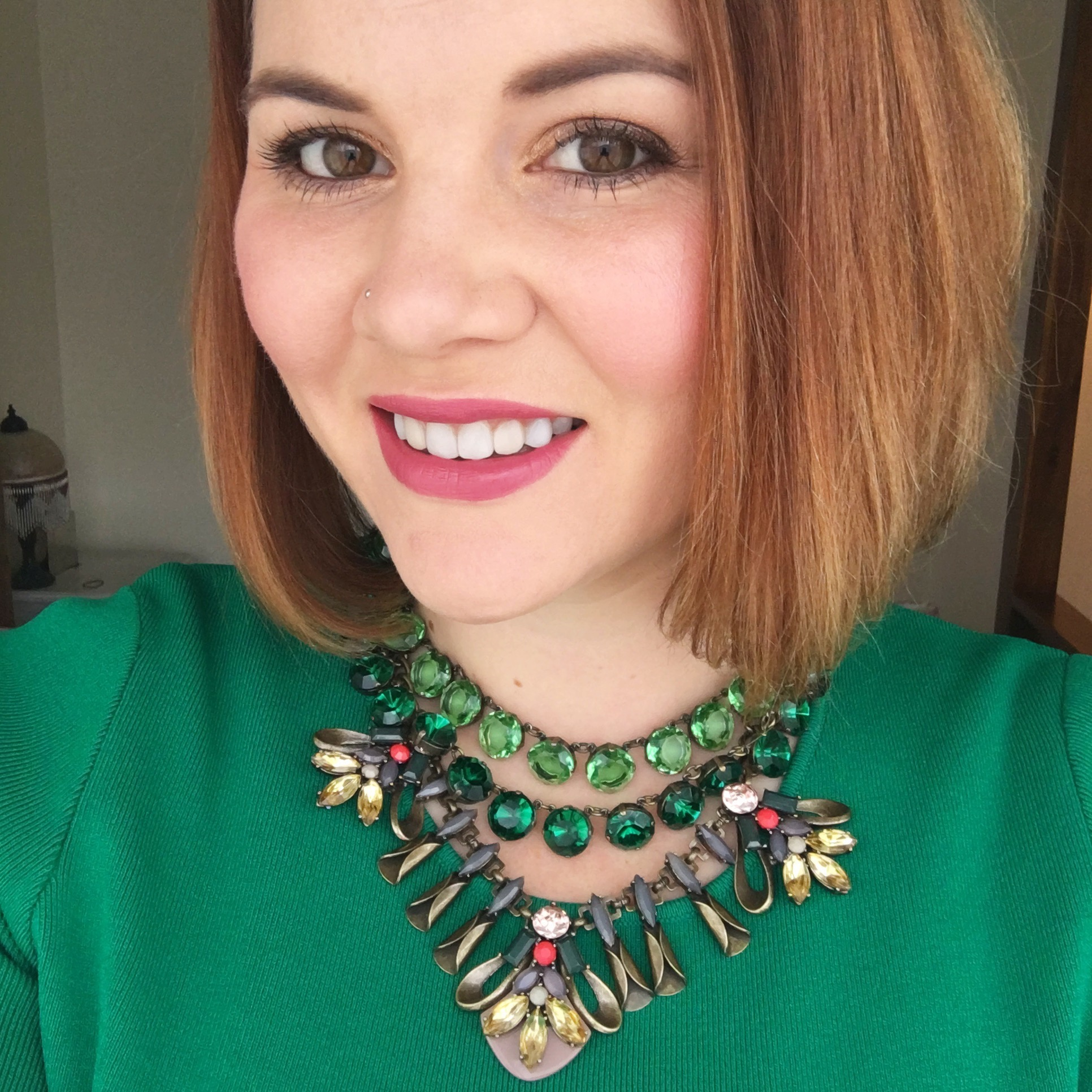 Add a statement necklace - or 3...