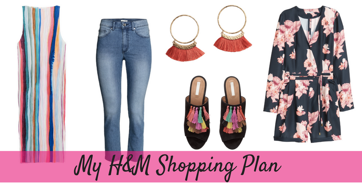 outfit flat lay H&M shopping