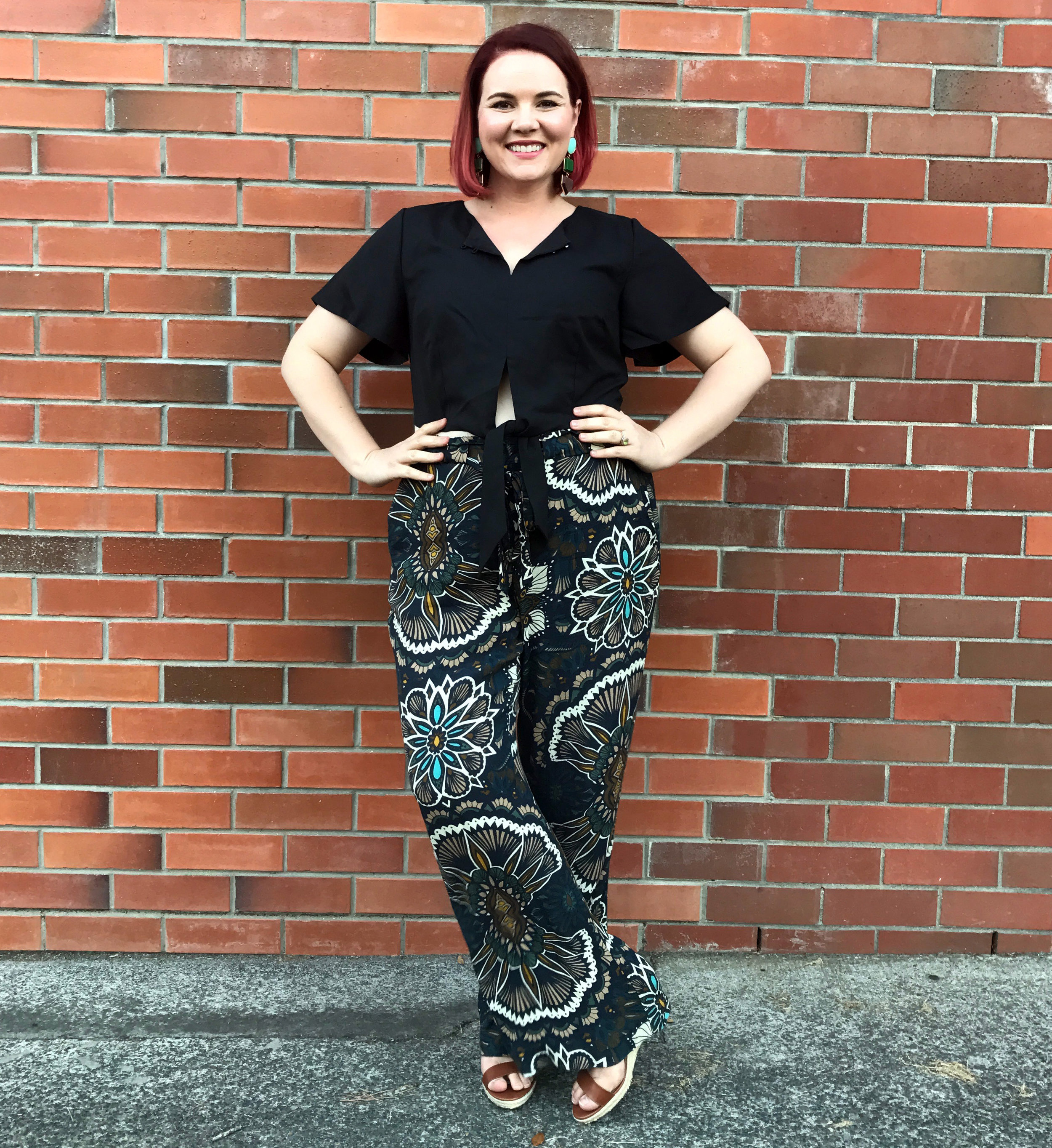 Earrings and Pants from H&M, shoes from Target Australia.