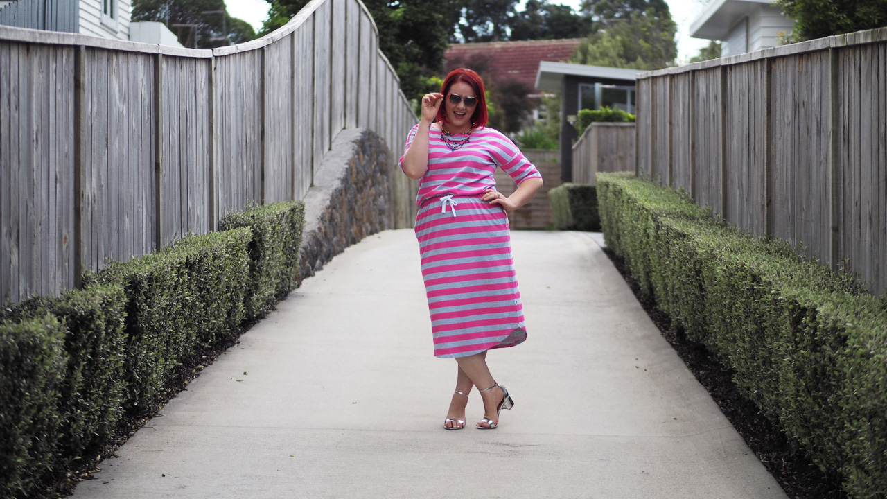 Monique Doy Stripy Dress