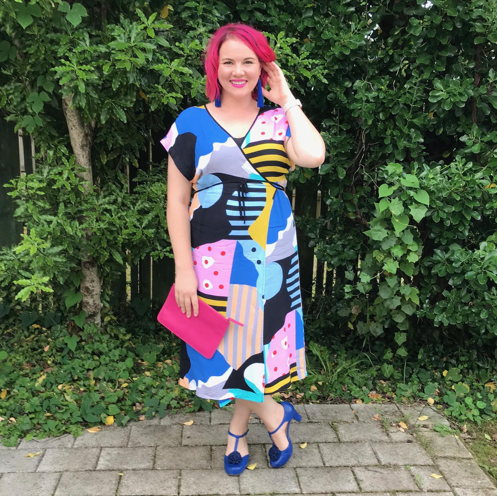 Gorman dress, Lovisa earrings, Merchant clutch, Mi Piaci shoes.