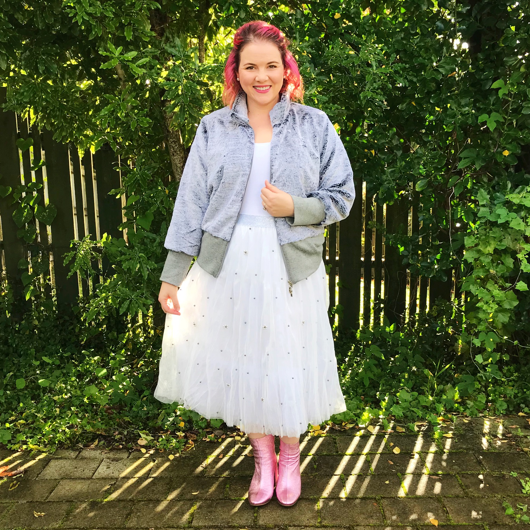 Libertine jacket, Trelise Cooper skirt, Mi Piaci boots.