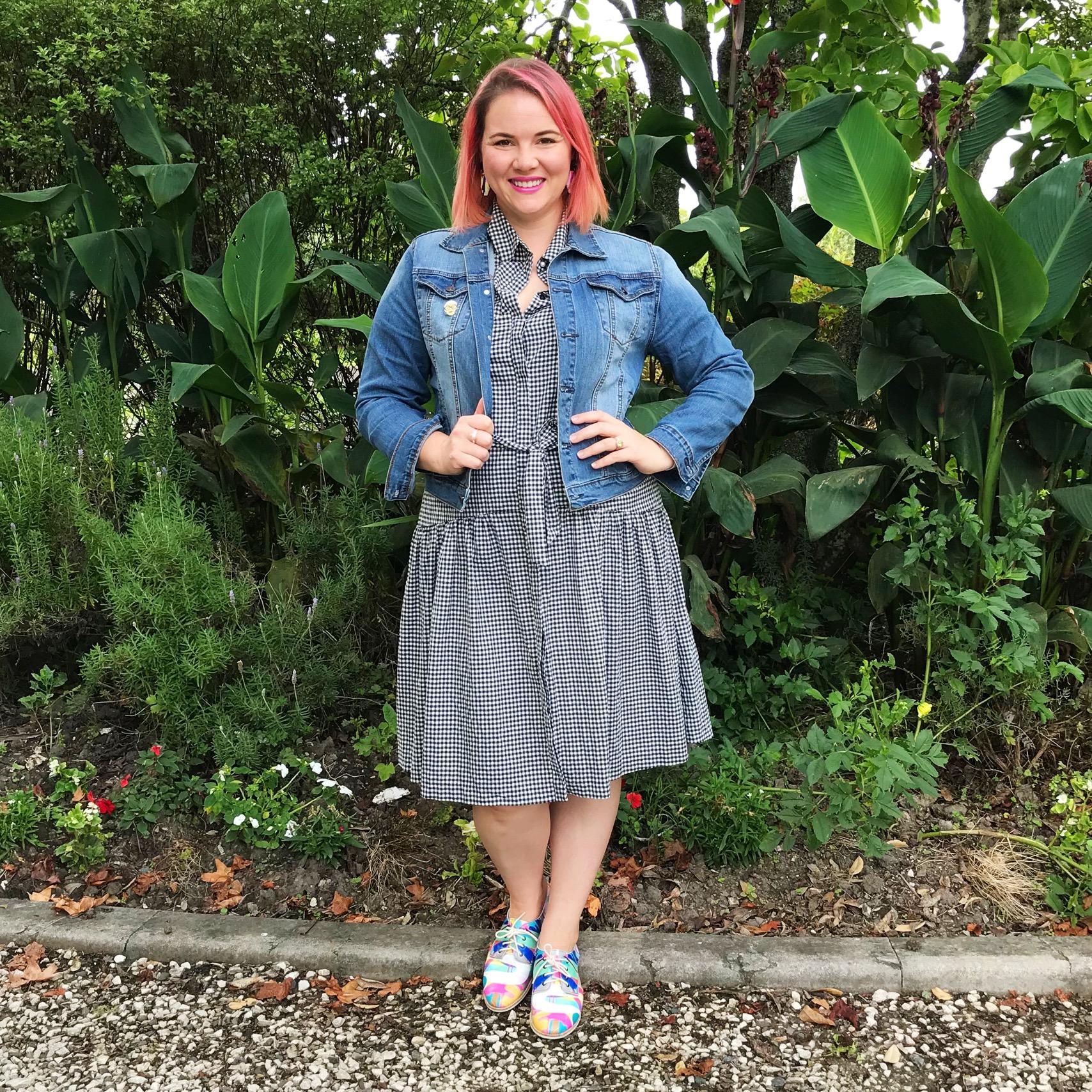 PQ jacket, Veronika Maine dress, Rollie shoes.