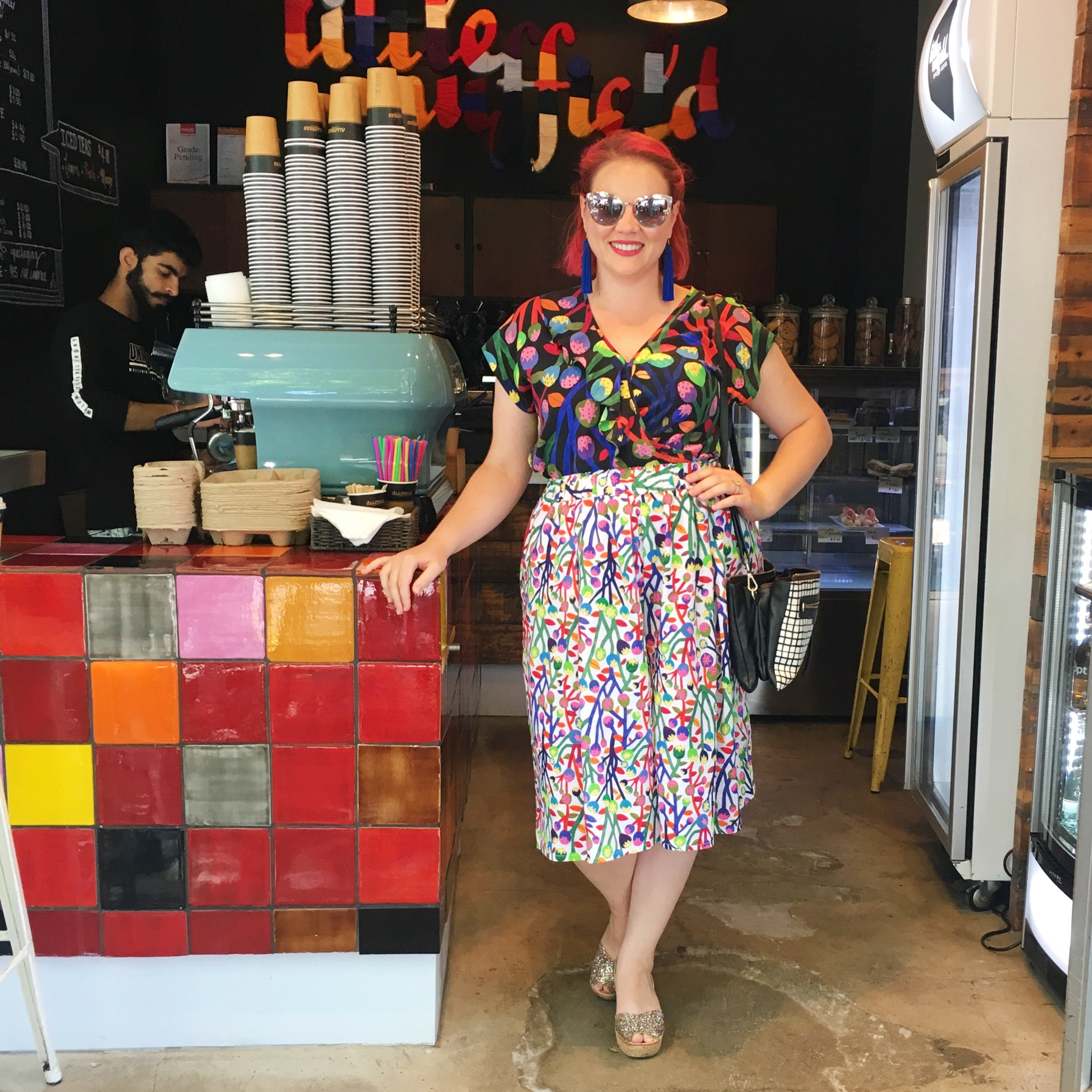 Gorman top and culottes, Quay sunglasses, Lovelee Soles shoes.