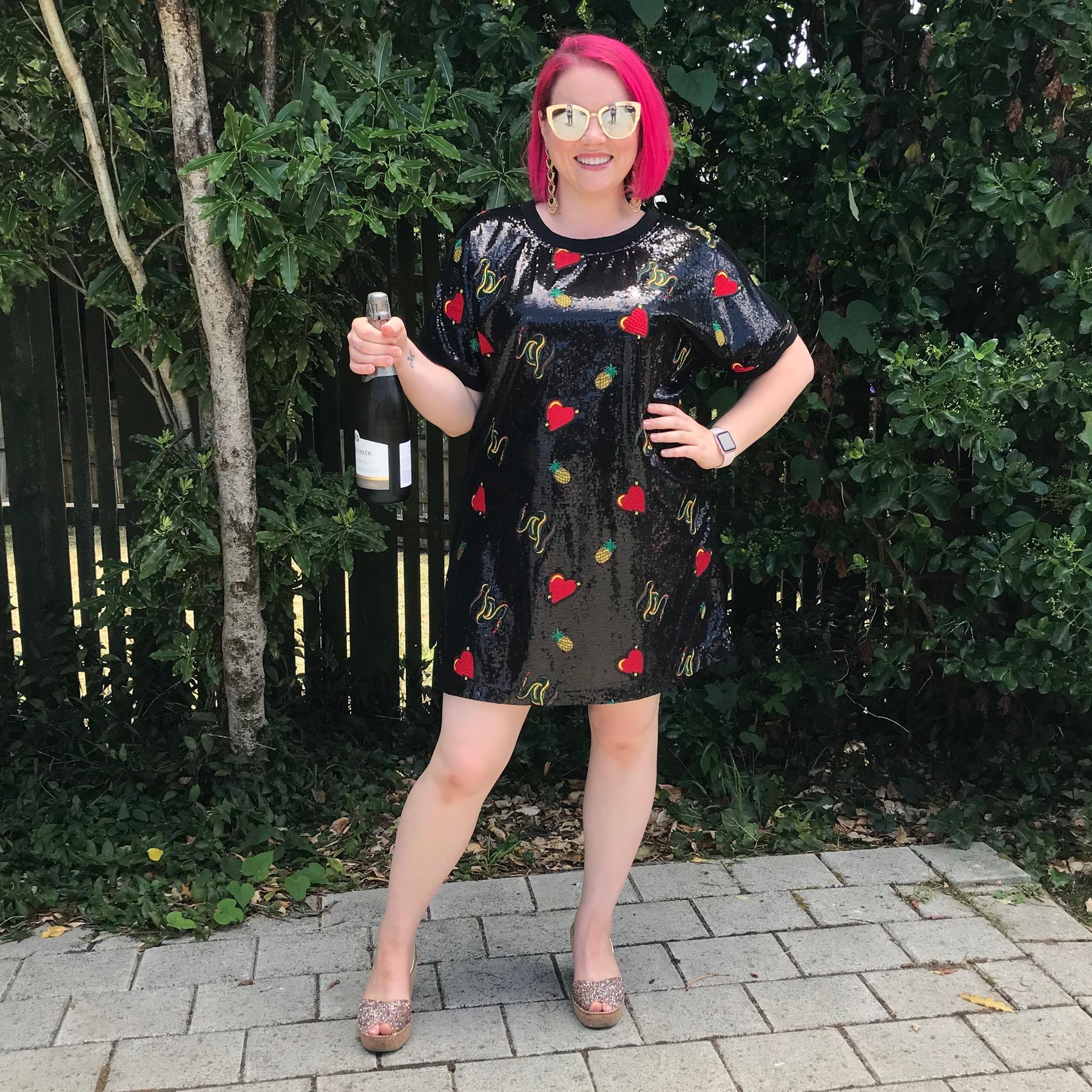 Coop dress, Lovelee Soles shoes, Quay sunglasses.