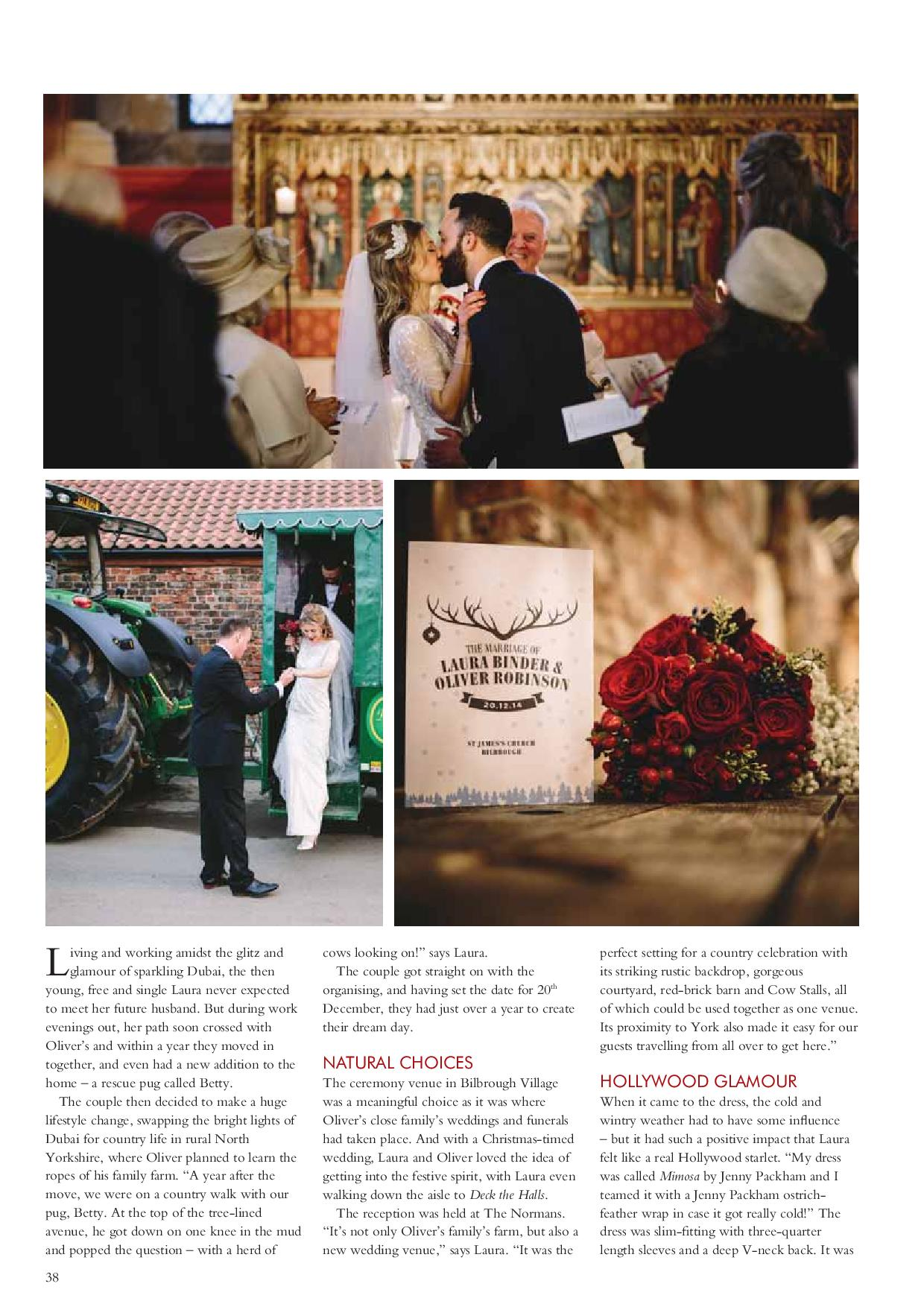The Normans Weddings in Your Yorkshire Wedding magazine 3.jpg