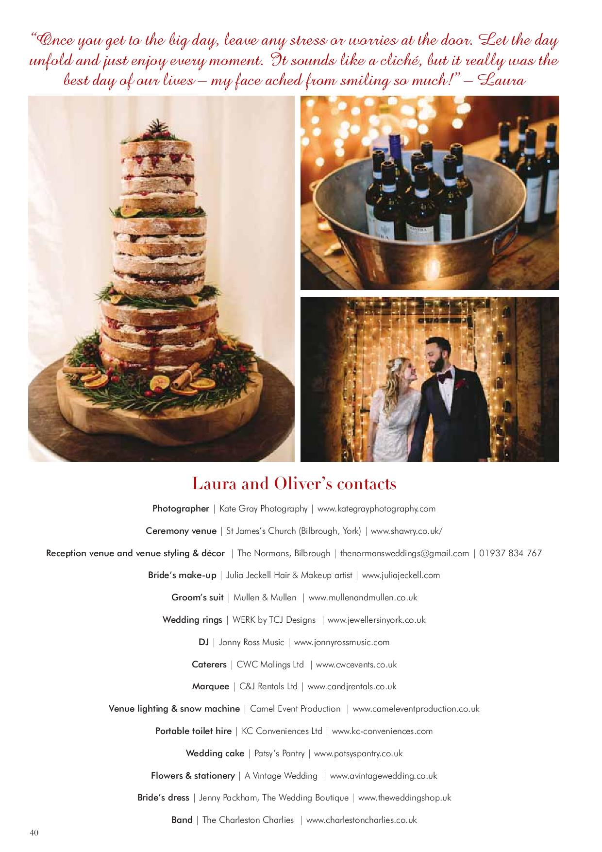 The Normans Weddings in Your Yorkshire Wedding magazine 5.jpg
