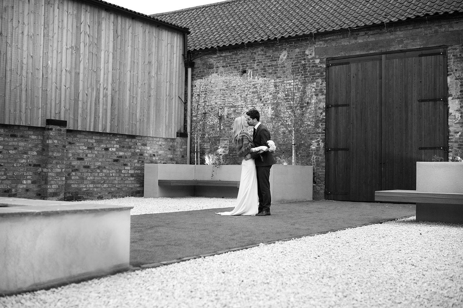 The Courtyard at The Normans wedding venue, North Yorkshire. Photo by www.adamlloydwilson.com