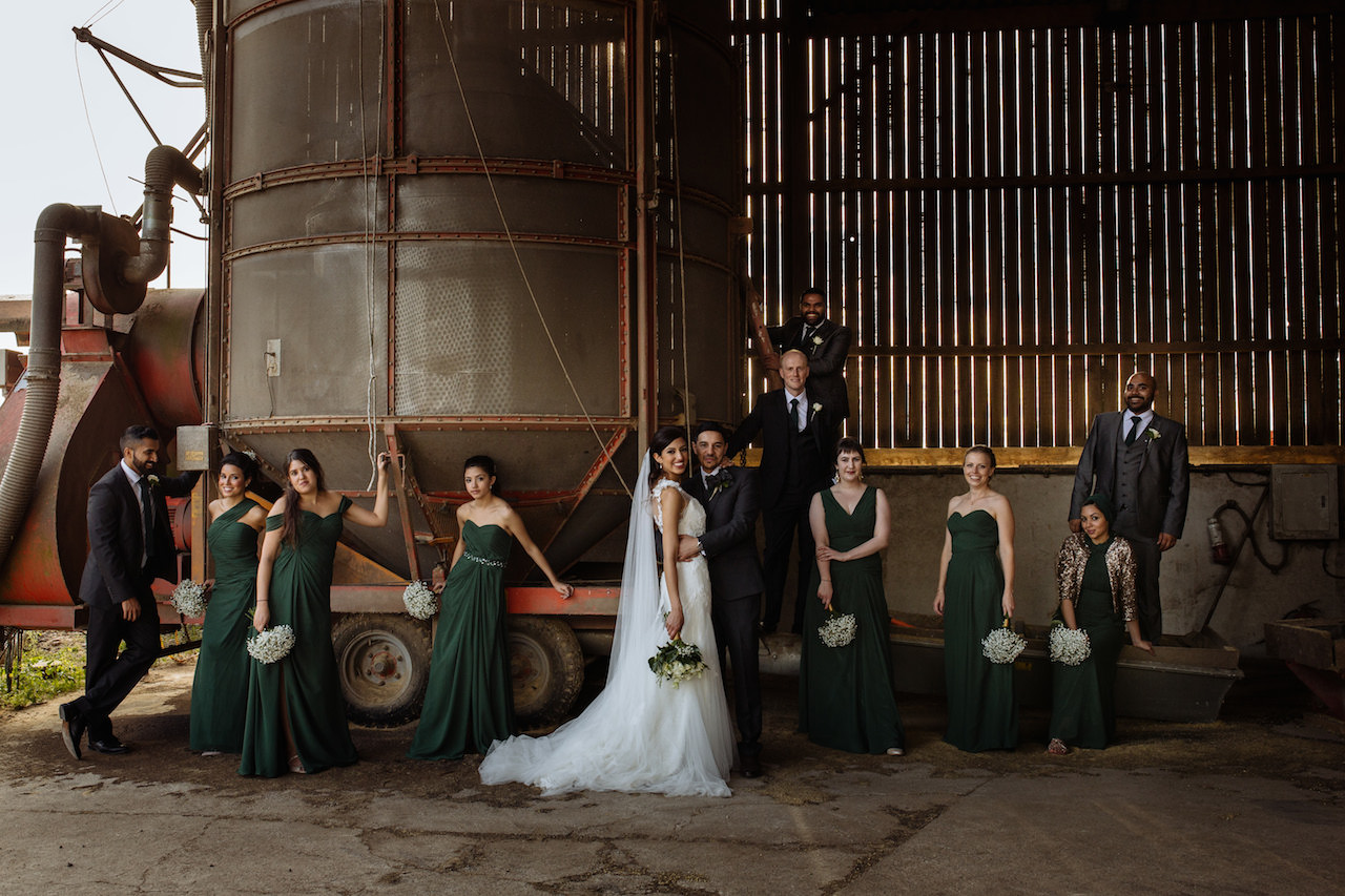 Shaza & Kareem and co. pull off quintessential countryside chic with aplomb. Photo by toastofleeds.com