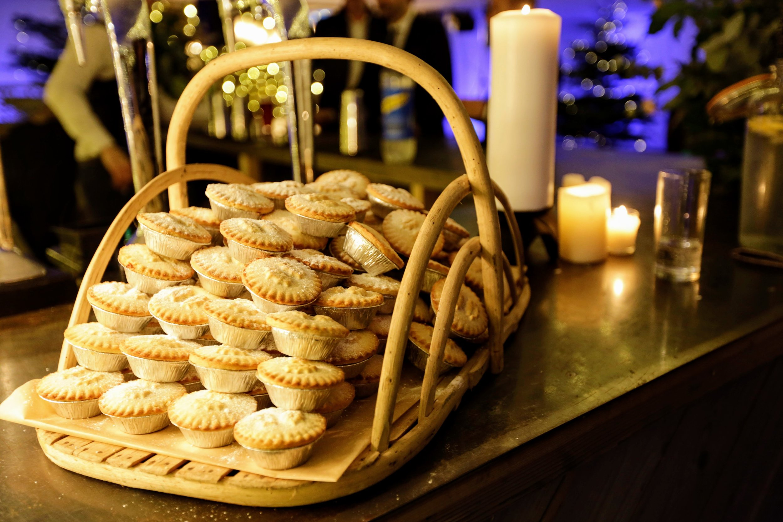 Mince Pies All Round at The Normans wedding venue Photo by www.dylannoltephotography.com