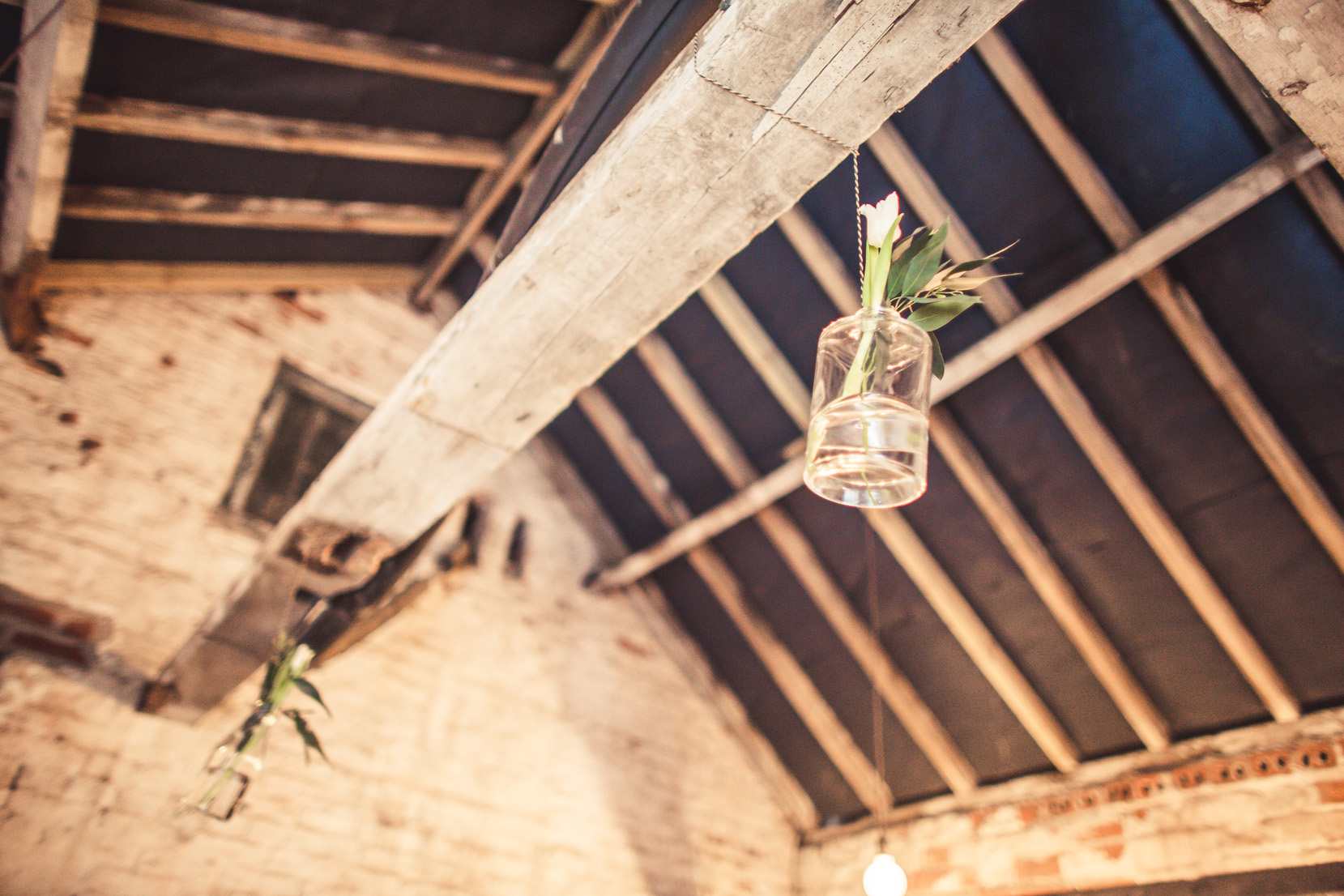 Hanging Jars at The Normans. Photo by www.inspirephotos.co.uk
