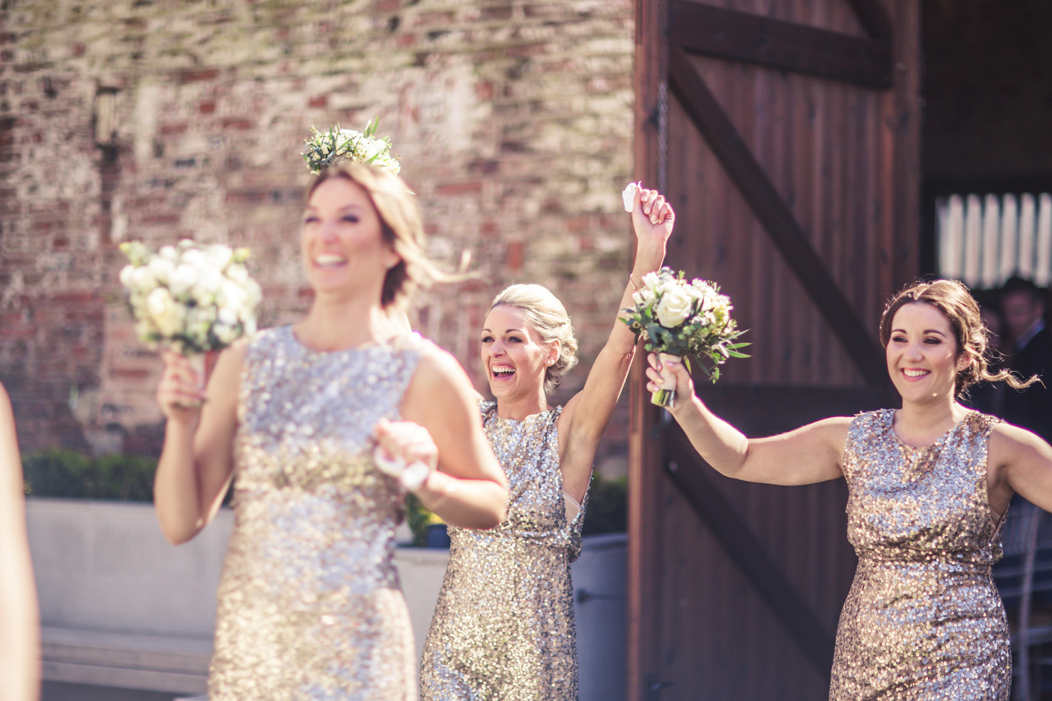 Bridesmaids Celebrate at The Normans. Photo by www.inspirephotos.co.uk