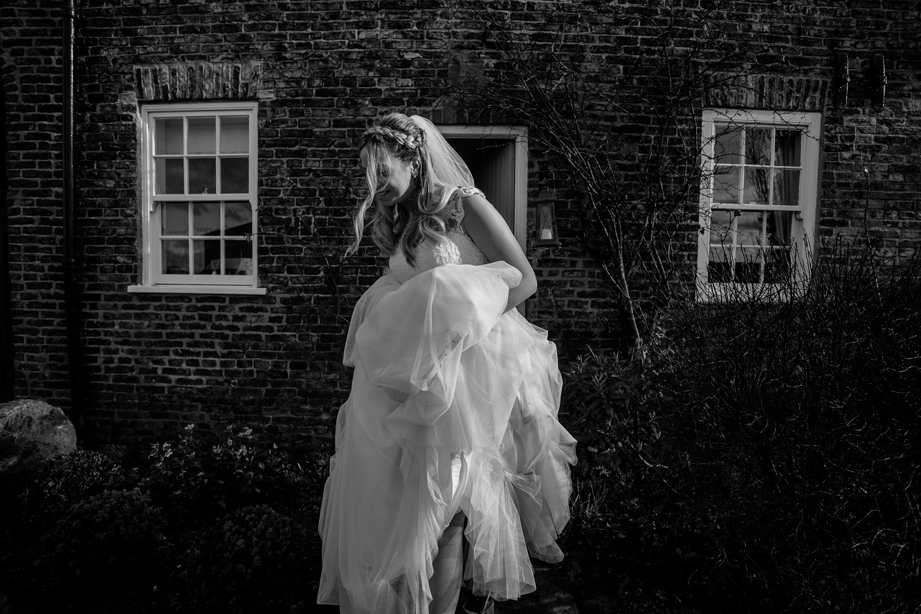 Bride Chloe at The Normans Photo by www.sansomphotography.co.uk