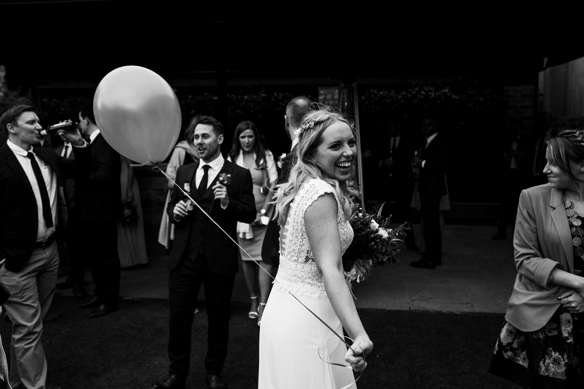 Beaming Bride at The Normans. Photo by www.timdunk.com