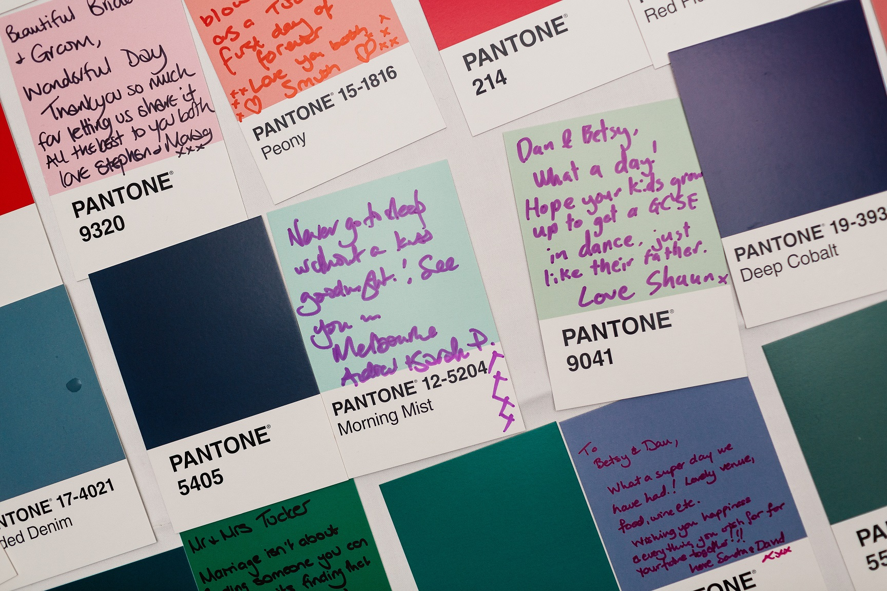 Pantone Guest Book at The Normans Photo by www.pauljosephphotography.co.uk