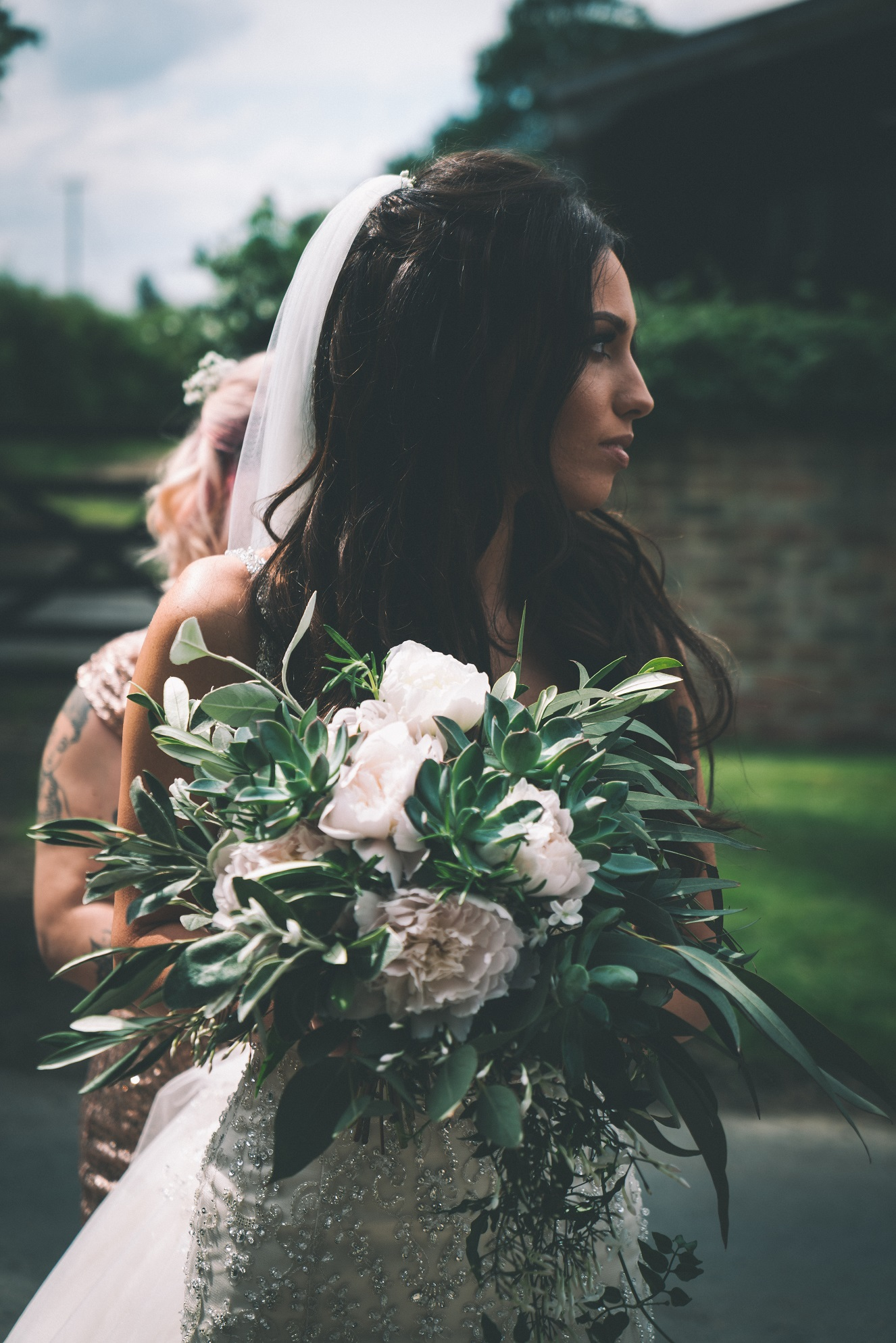 Bridal Bouquet by Kate Mell Flowers at The Normans. Photo by www.sevenpoints.uk