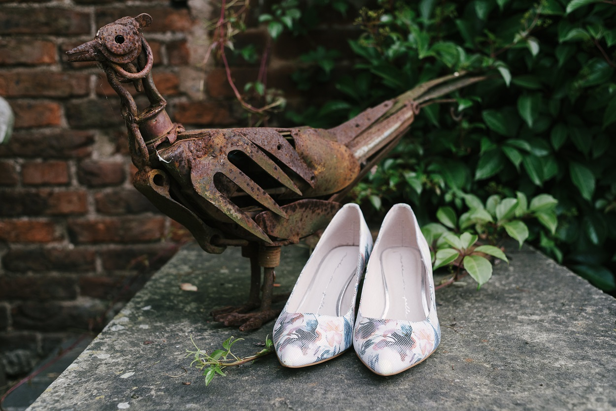 Bridal shoes at The Normans Photo by www.mjhstudio.co.uk