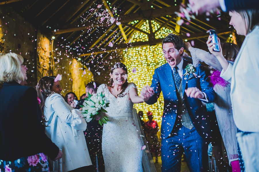 Confetti time at The Normans Photo by www.nicolaphotography.co.uk