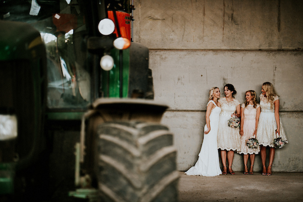 Bridesmaids hang out at The Normans Photo by Shutter Go Click Photography