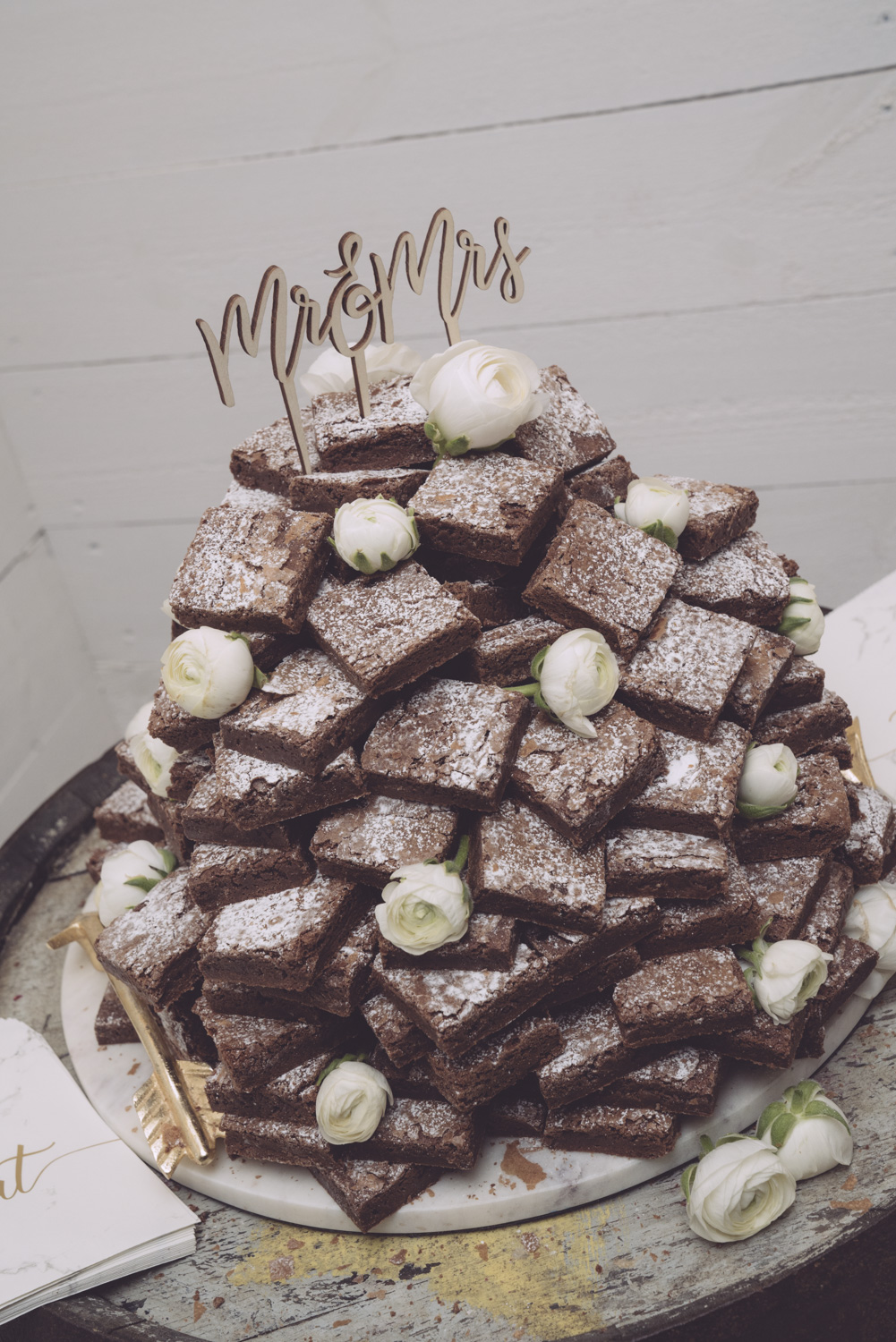 Chocolate Brownie Tower at The Normans Photo by Tim Zoltie